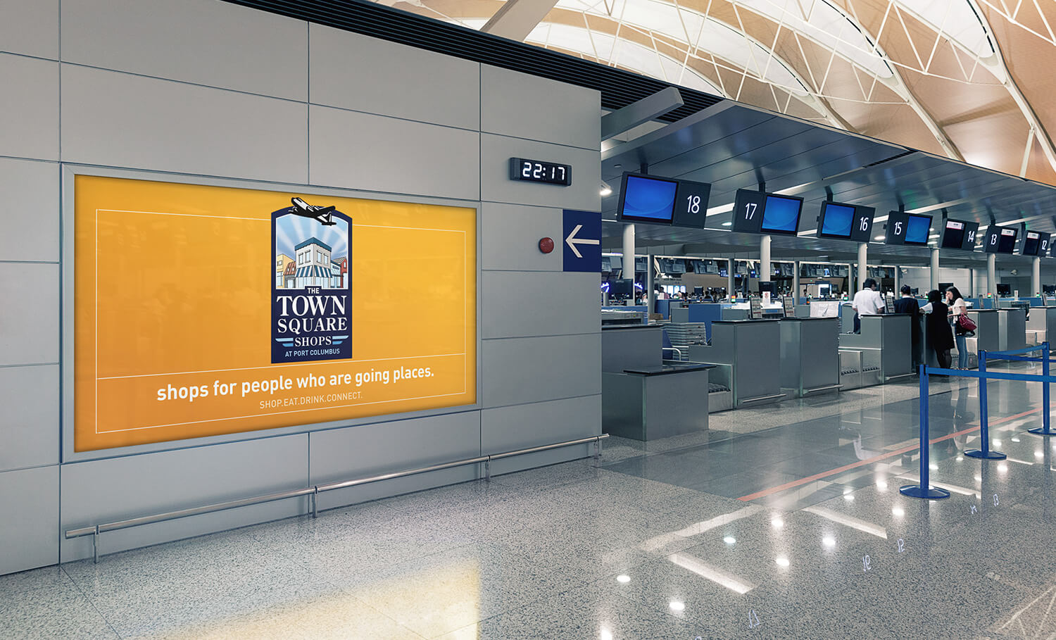Airport Digital Signage content creation and motion graphics