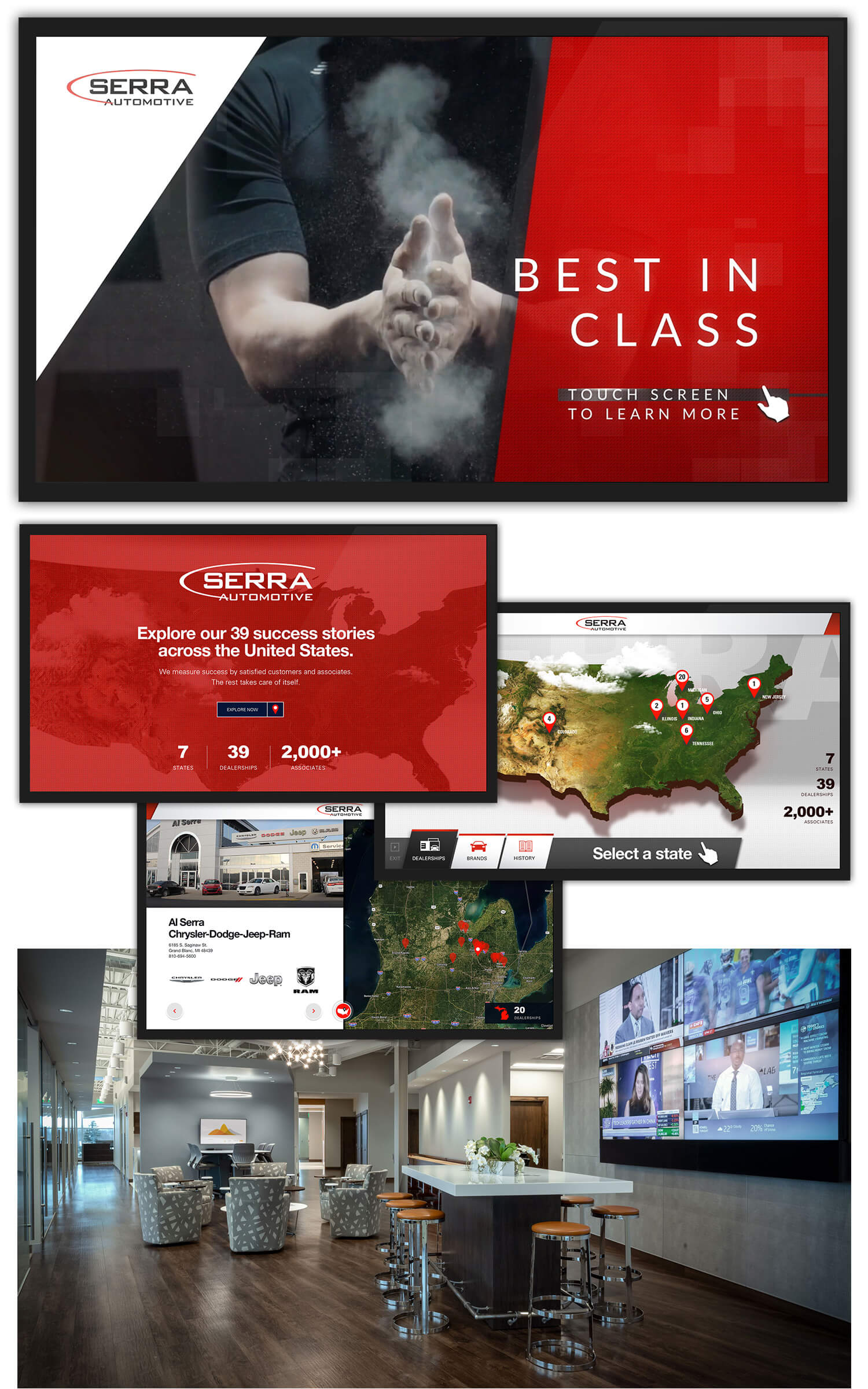 Serra Interactive Screens