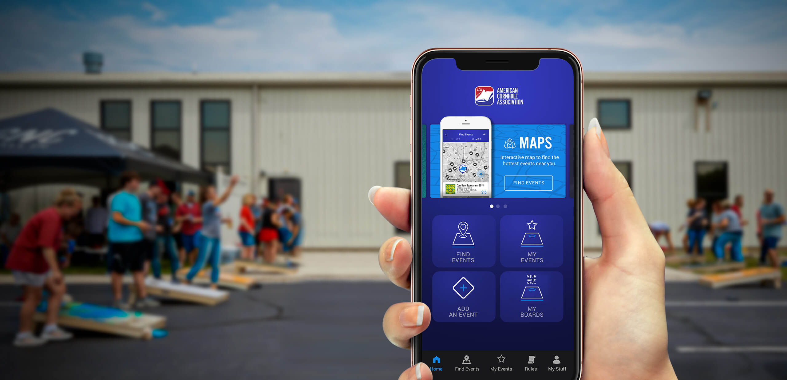 American Cornhole Association Mobile App